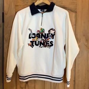 Vintage embroidered Looney Tunes sweatshirt Small